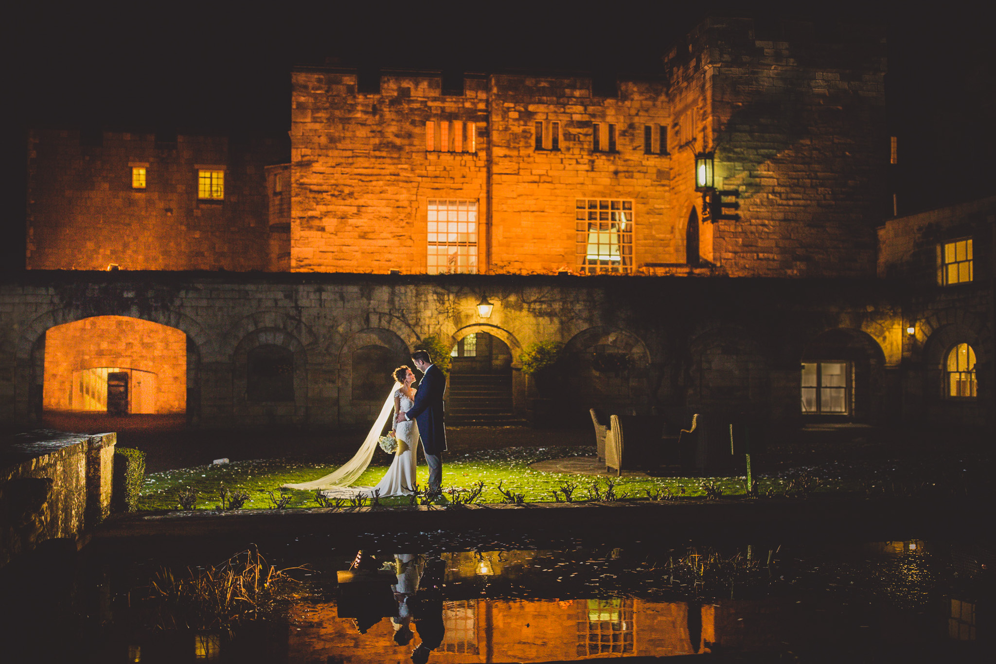 Hazzlewood Castle: Jenna & Phil Wedding Photoshoot