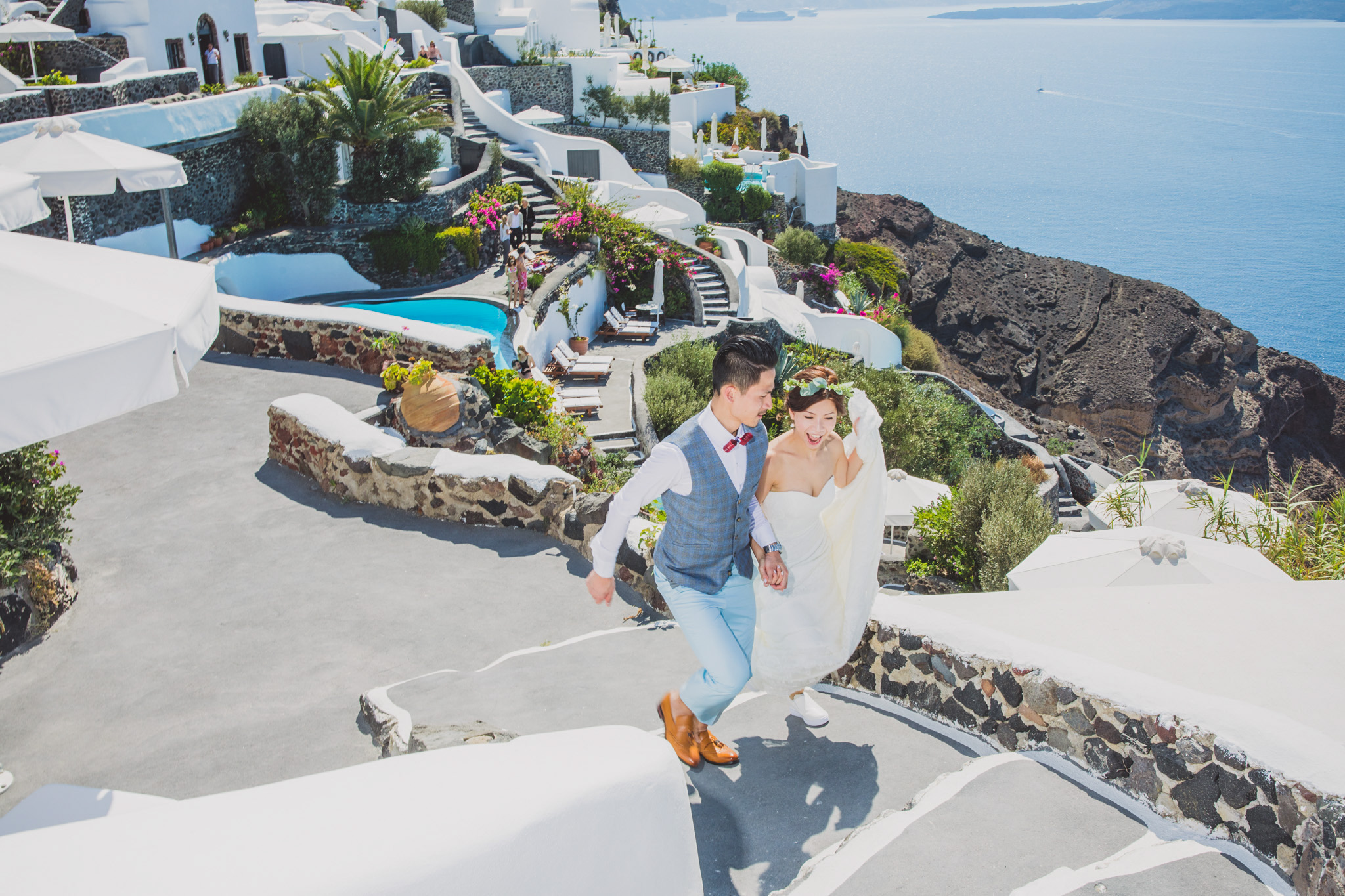 Santorini, Greece: Joeie & Jip Destination Pre-Wedding Photoshoot
