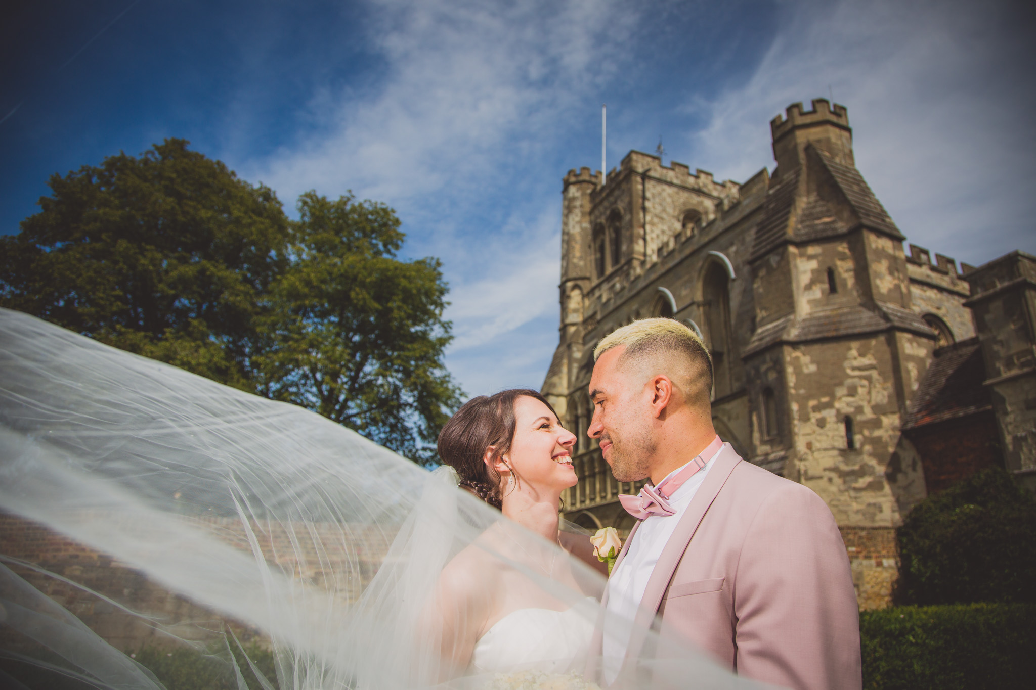 Priory church of St Peter Dunstable & Luton Wall Garden: Alexa and Jordan Wedding Photography