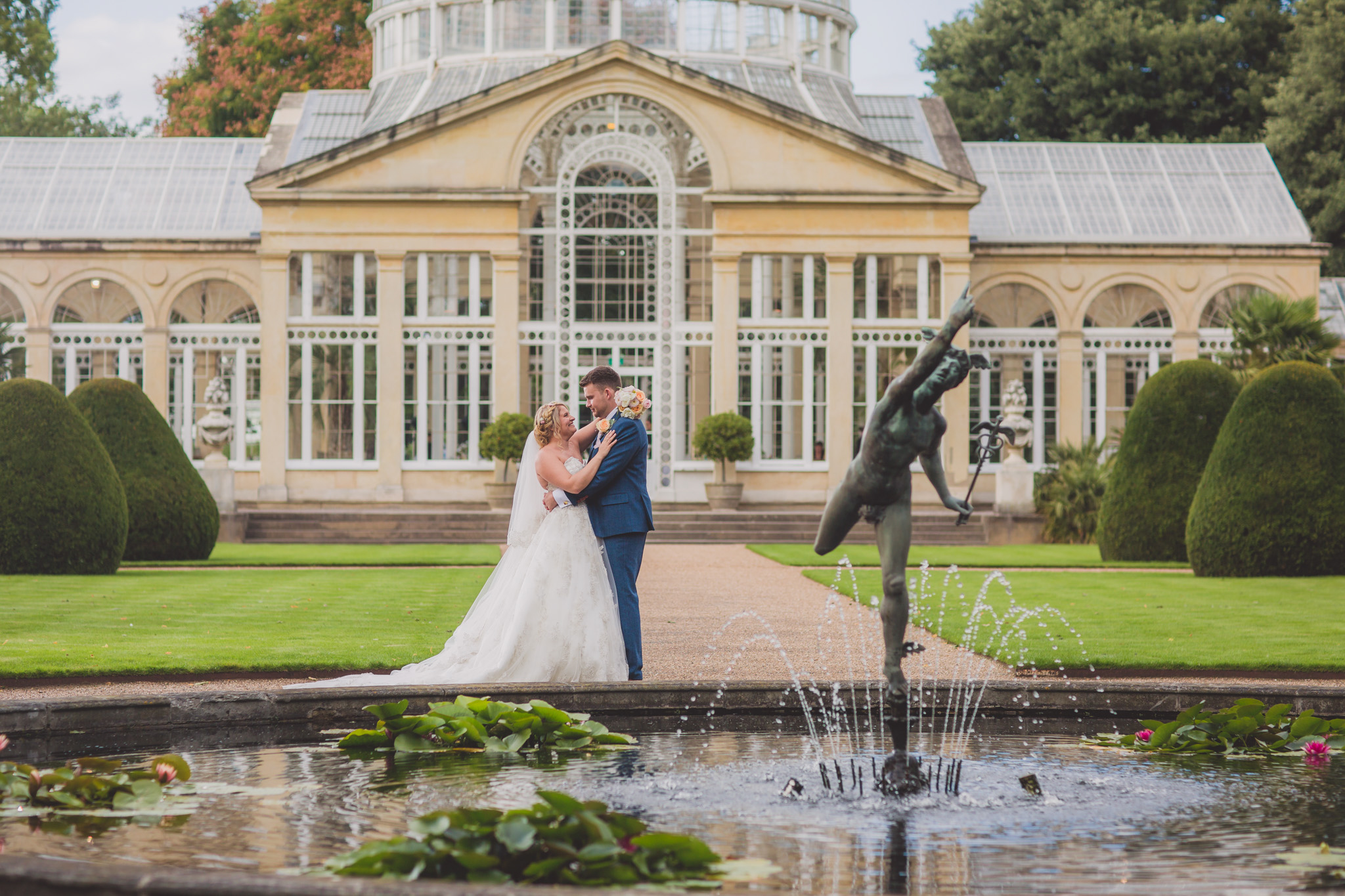 The Great Conservatory Syon Park Wedding Photography: Sandra and Nick