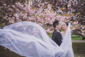 Greenwich Park Cherry blossom: Karyan & Daniel Engagement photography