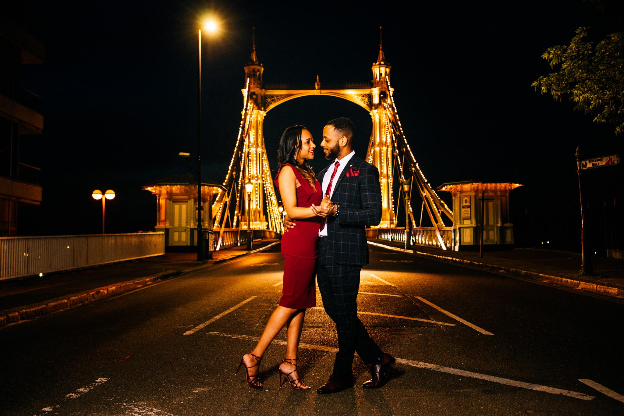Battersea Park & Albert Bridge: Faran & Chad Engagement Shoot