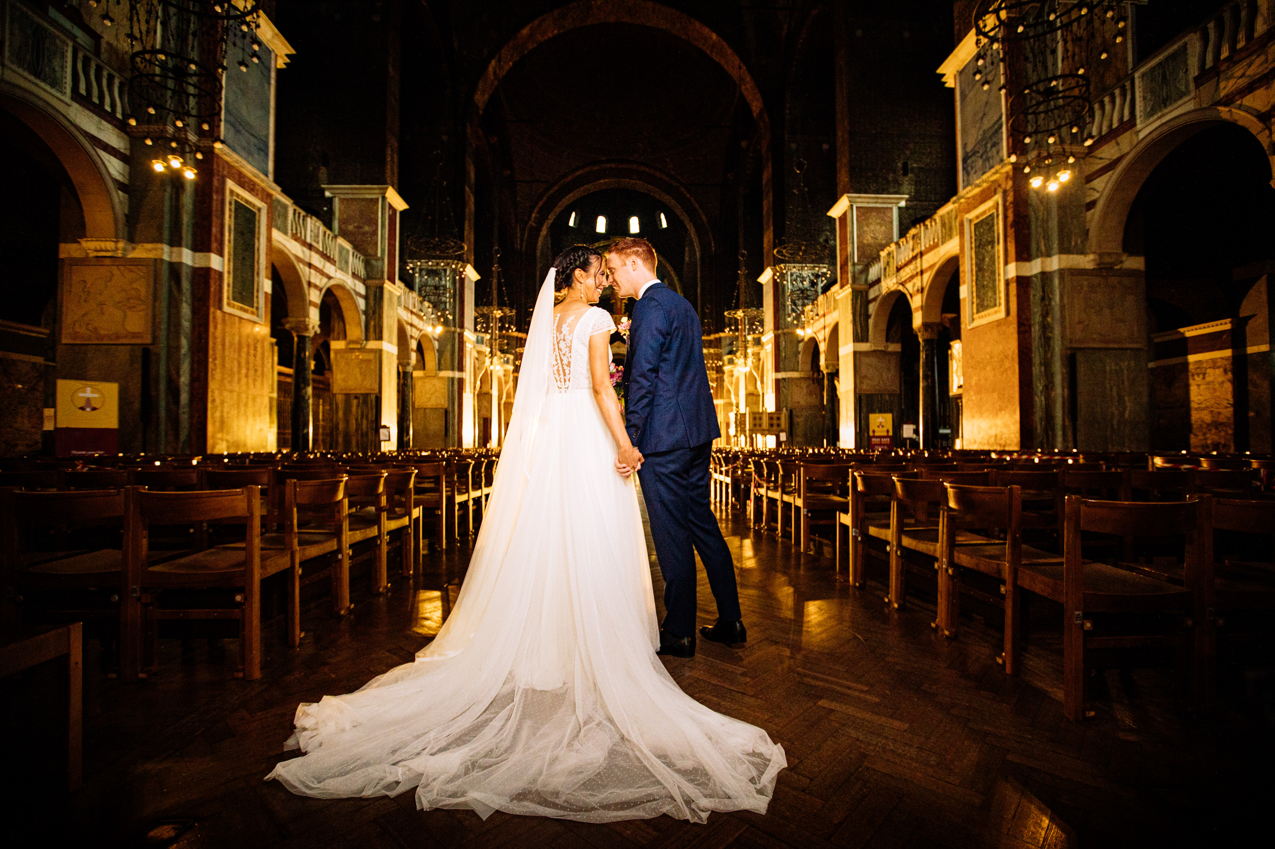 London Westminster Cathedral: Nathalie & Vincent Wedding Photos